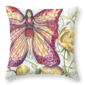 Butterfly Grace Fairy Throw Pillow