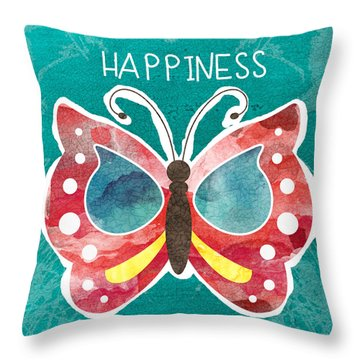 Butterfly Happiness Throw Pillow