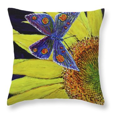 Butterfly Haven Throw Pillow by David Joyner