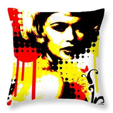 Butterfly Headcase Throw Pillow by Chris Andruskiewicz