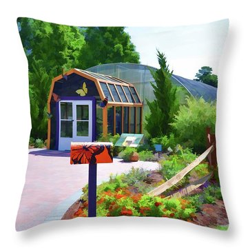 Butterfly House 1 Throw Pillow by Lanjee Chee