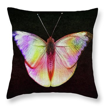 Butterfly In Retro  Throw Pillow
