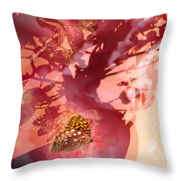 Butterfly In Shadow  Throw Pillow