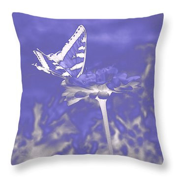 Butterfly In The Mist Throw Pillow