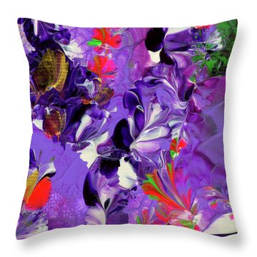 Butterfly Island Treasures Throw Pillow