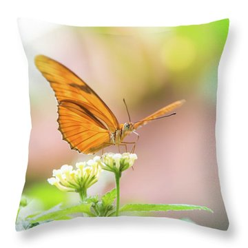 Butterfly - Julie Heliconian Throw Pillow