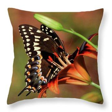 Butterfly Kiss 2 Throw Pillow
