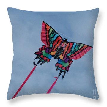 Butterfly Kite 2 Throw Pillow