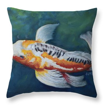Butterfly Koi I Throw Pillow