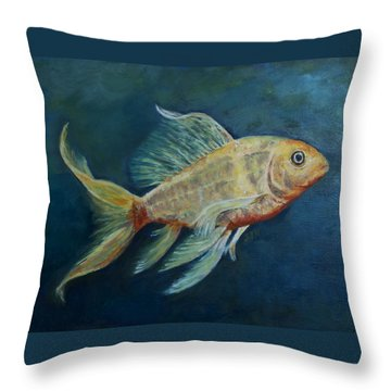 Butterfly Koi II Throw Pillow