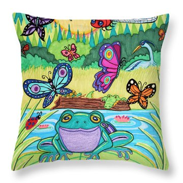 Butterfly Lake Throw Pillow by Nick Gustafson