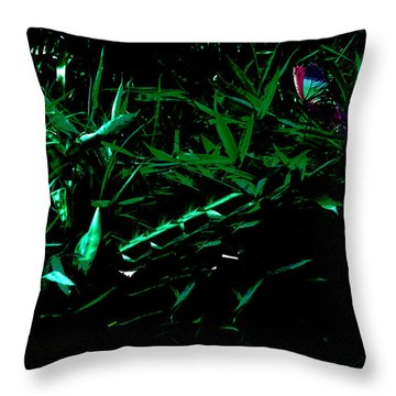Butterfly Lanscape Throw Pillow by Asok Mukhopadhyay