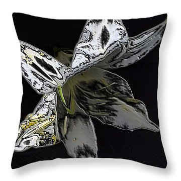 Throw Pillow featuring the photograph Butterfly Lily by Carolyn Repka