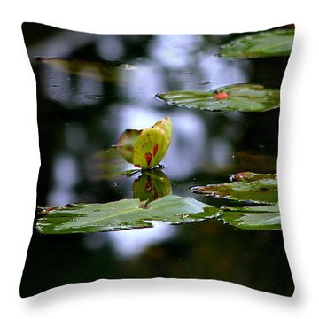 Butterfly Lily Pad Throw Pillow