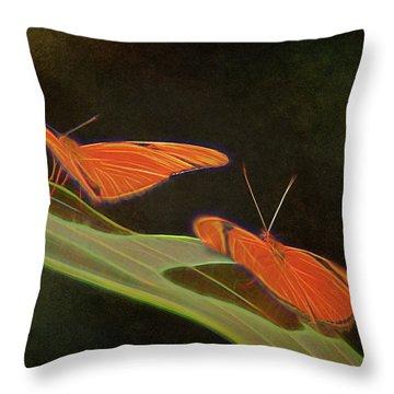 Butterfly Love 1a Throw Pillow