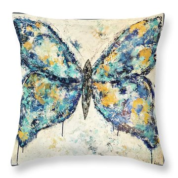 Butterfly Love Throw Pillow by Kirsten Reed