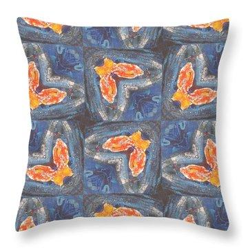 Butterfly Love Throw Pillow by Maria Watt