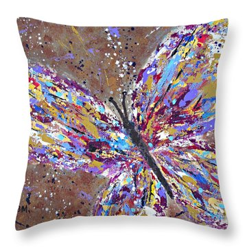 Butterfly Magic Throw Pillow