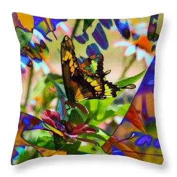 Butterfly Montage Throw Pillow