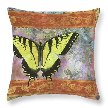 Butterfly Mosaic Throw Pillow by JQ Licensing