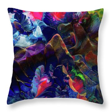 Butterfly Mountain Throw Pillow