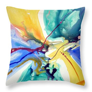 Butterfly Nebula Throw Pillow