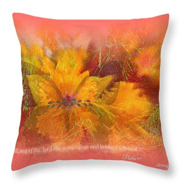 Butterfly Of Love And Peace Throw Pillow