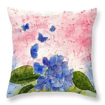 Butterflies Or Hydrangea Flower, You Decide Throw Pillow