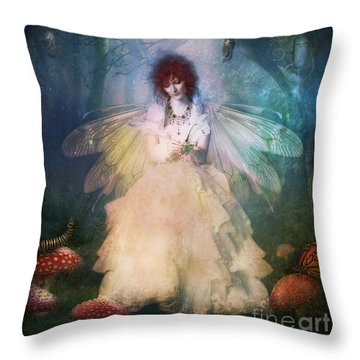 Butterfly Painter Throw Pillow