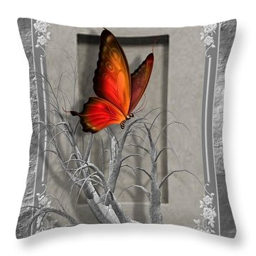Butterfly Pop Throw Pillow