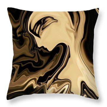 Throw Pillow featuring the digital art Butterfly Princess by Rabi Khan