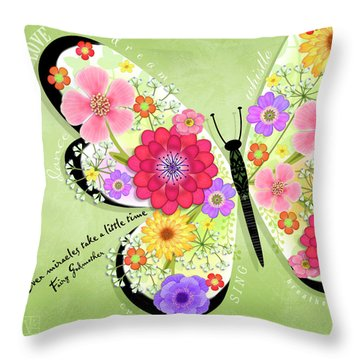 Butterfly Promise Throw Pillow