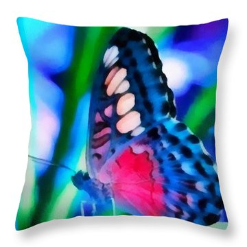 Butterfly Realistic Painting Throw Pillow