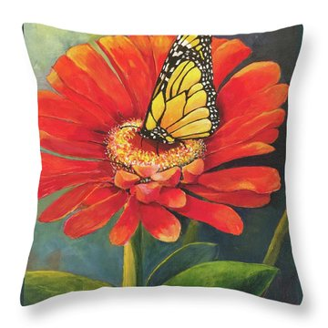 Butterfly Rest Throw Pillow