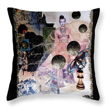 Butterfly Throw Pillow by Sandy McIntire