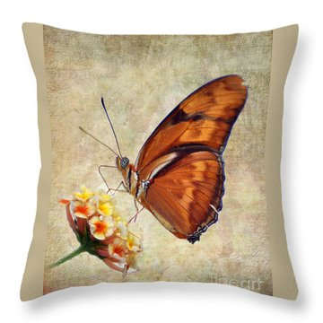 Butterfly Throw Pillow by Savannah Gibbs