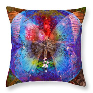 Butterfly Sisterly City Love Throw Pillow