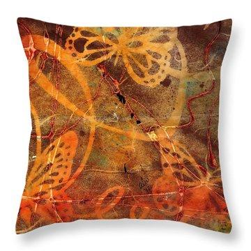 Butterfly Sun Dance Throw Pillow