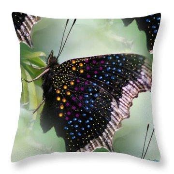 Butterfly Sunbath #2 Throw Pillow
