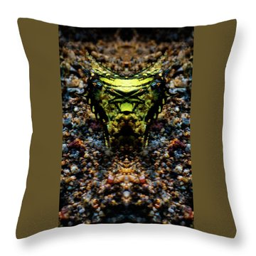 Butterfly Tiger Throw Pillow