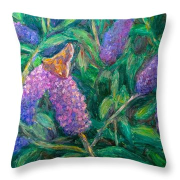 Throw Pillow featuring the painting Butterfly View by Kendall Kessler