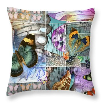 Butterfly Wings Collage Throw Pillow