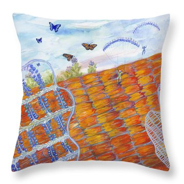 Butterfly's Wings Throw Pillow
