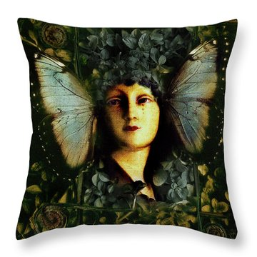 Butterfly Woman Throw Pillow