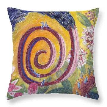 Butterfly's 'tongue' Throw Pillow