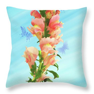 Butterfly Dance Throw Pillow by Kathryn Stone