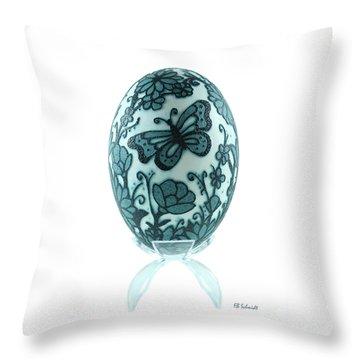 Buttery Fly Garden Emu Egg Throw Pillow