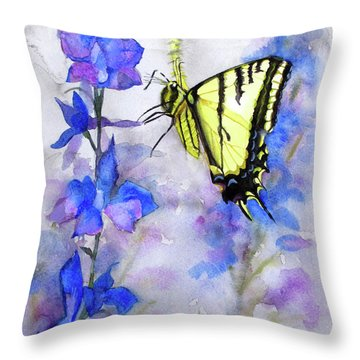 Butteryfly Delight Throw Pillow by Bonnie Rinier