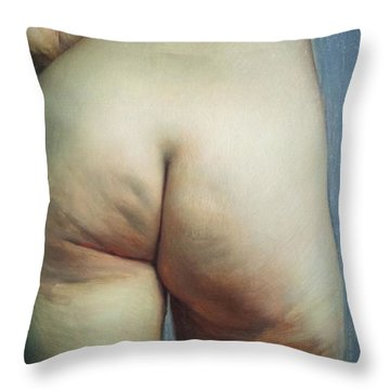 Buttocks And Left Hand On Hip Throw Pillow