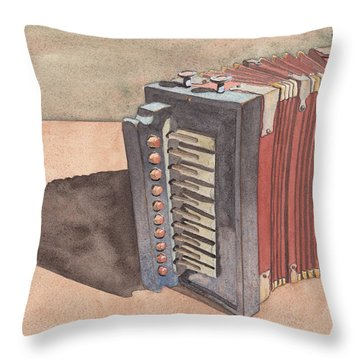Button Accordion Throw Pillow